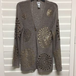 Chico's Lightweight Loosely Woven Cardigan